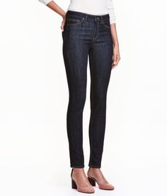 Slim Regular Jeans | Dark denim blue | Ladies | H&M US