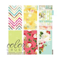 Webster's Pages Color Crush Personal Planner Divider Set Kit Count Your Blessings - スクラップブッキング素材店 Dream Maker