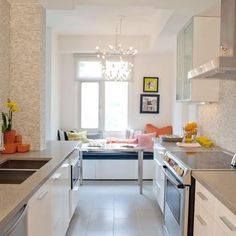 Galley Kitchen Design, Pictures, Remodel, Decor and Ideas