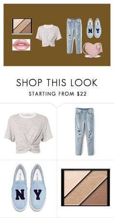 """""""Easy Look"""" by rayofsunshine0504 ❤ liked on Polyvore featuring T By Alexander Wang, Joshua's, Elizabeth Arden and Lime Crime"""