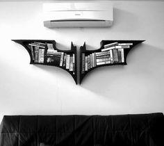 The Dark Knight Bookshelves - http://thegadgetflow.com/portfolio/the-dark-knight-bookshelves-267/