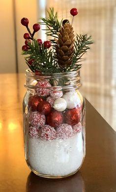 Mason Jar Christmas Decorations - The Full Nester