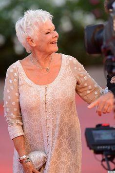 Dame Judi Dench Rocks A Sparkly Slit Dress At 78