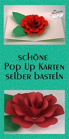 basteln mit papier pop up karten selber basteln diy einladungskarten pinterest basteln. Black Bedroom Furniture Sets. Home Design Ideas