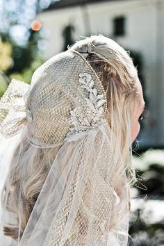 Juliet Cap Wedding Veil, Alencon Lace, Rhinestone Bridal Cap, Pearls, Cathedral, Chapel, Waltz, Blusher, Ivory, Champagne, Style: Lola Gold