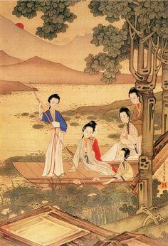 2. 仕女图 清 焦秉贞(图册) - Qing Female Official Picture