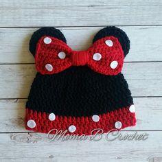 Crochet Minnie Mouse Hat Minnie Mouse Hat Popular di MomaBCrochet