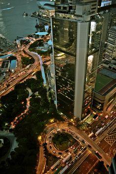 Views like this from Cafe Gray in Hong Kong just makes you wonder how cool Hongkong really is!