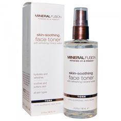 Увлажнение кожи, часть 4 Mineral Fusion, Skin-Soothing Face Toner, 3.3 fl oz (98 ml)