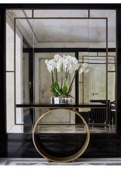 15 astonishing foyer mirrors for a welcoming home wall mirror design, wall mirror ideas, Entrance Foyer, House Entrance, Entryway Decor, Entrance Halls, Entryway Lighting, Wall Decor, Foyer Design, House Design, Lobby Design