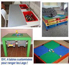 fabriquer table rangement légo