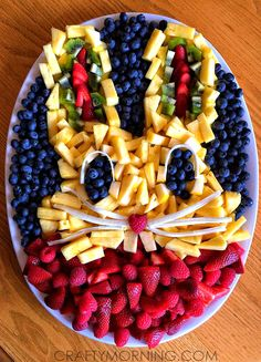 Creative Bunny Rabbit Fruit Platter - Cute for Easter! | CraftyMorning.com
