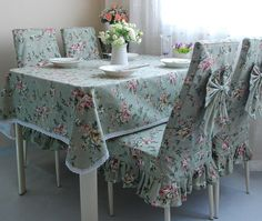 Covers on kitchen chairs