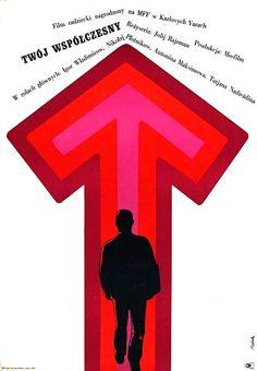 Vintage movie poster 1968 by Jerzy Flisak: Twoj wspolczesny
