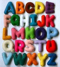 #Felt, #Fieltro Felt Letters, letras de fieltro