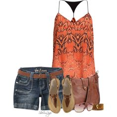 A fashion look from July 2014 featuring Wallflower shorts, Vince Camuto sandals and Frye shoulder bags. Browse and shop related looks. Cool Outfits, Casual Outfits, Summer Outfits, Look Fashion, Fashion Outfits, Womens Fashion, Fashion Clothes, Fashion Tips, Summer Wear