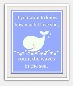 Children's wall art- baby nursery decor, beach, blue, whale, hearts via Etsy. Baby Nursery Decor, Nursery Ideas, Nursery Frames, Whale Nursery, Ocean Nursery, Room Ideas, Baby Whale, Newborn Nursery, My Bebe