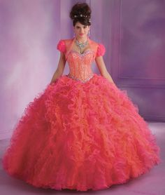 Shop Morilee's Multi-Color Ruffled Tulle Quinceanera Dress with Beading. Quinceanera Dresses by Morilee designed by Madeline Gardner. Multi-Color Ruffled Tulle Quinceanera Dress with Beading. Mori Lee Quinceanera Dresses, Mori Lee Dresses, Quinceanera Party, Prom Dresses For Sale, 15 Dresses, Puffy Dresses, Doll Dresses, Evening Dresses, Fashion Dresses