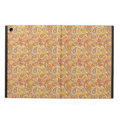 Orange & Yellow Paisley iPad Air Covers