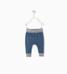 ZARA - KIDS - Contrasting knit trousers