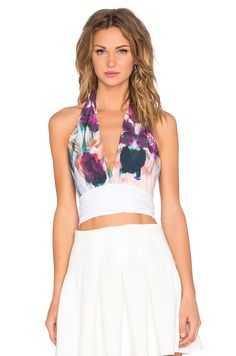 Clover Canyon Floral Whisper Crop Top in Multi