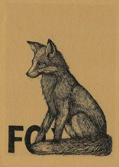 """Digitaldruck - """"FOX"""" Fine Art Print - ein Designerstück von MarionRuhrberg bei DaWanda"""