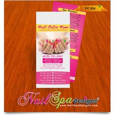 Price List template for Nail Salon. Visit www.NailSpaDesigns.com/catalog for more Nail Spa printing templates #NailSpaDesigns