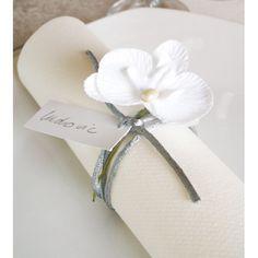 Orchidée blanche sur tige les 6 déco mariage