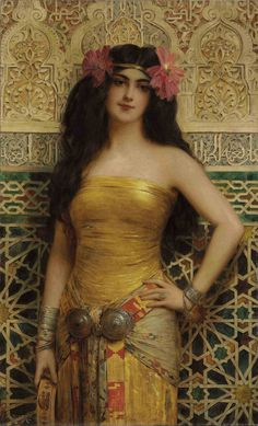"""Charles Dubreuil """"An Oriental Beauty"""" by Art & Vintage, via Flickr"""