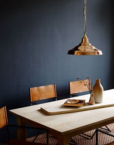 Homes & Gardens / Jake Curtis Photography | Yellowtrace Interior design decor decorating decoration architecture blue navy copper tan dark