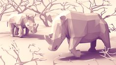 lowpoly of 2016 on Behance