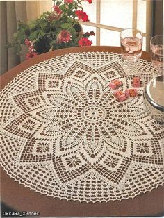 Round Table Cloth free crochet pattern and diagram on Crochet Art at… Crochet Tablecloth Pattern, Crochet Doily Diagram, Filet Crochet, Crochet Patterns, Irish Crochet, Free Crochet Doily Patterns, Crochet Ideas, Crochet Dollies, Crochet Art