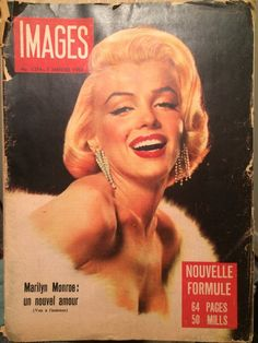 Marilyn Monroe on Cover of Very Rare Images 1956 #1374 Egyptian French Magazine | eBay