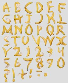 Banana peels that really spell it out...