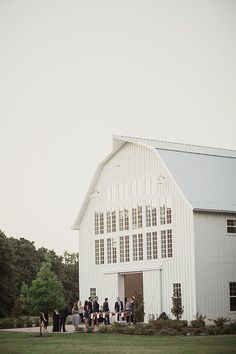 White Sparrow Barn in Texas.  White Barn. Pic by Shaun Menary
