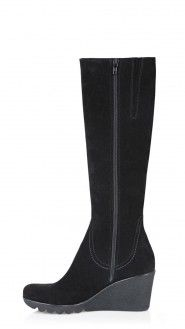 Wedge Bette Black Wedge Women Boots