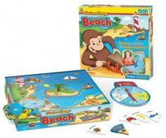 speech game for expanding utterances. I Can Do That Games Curious George - Discovery Beach: Toys & Games Curious George Games, Curious George Party, Curious George Birthday, Childrens Board Games, Games For Kids, Activities For Kids, Language Activities, Preschool Board Games, Beach Games