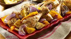 Greek Garlic-oregano Roasted Chicken Dinner II Recipe