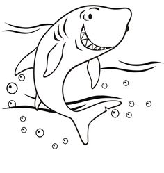Blue Shark free printable coloring page animal mosaics