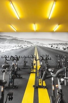 Love this - great setting for spin and cycle classes! #gymlife