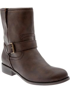 Old Navy   Women's Faux-Leather Moto Boots