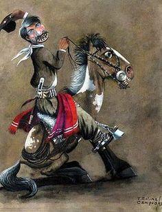 MOLINA CAMPOS-PINTOR ARGENTINO Cowboy Art, Western Cowboy, Beautiful Horses, Cowboys, Westerns, Folk, Cartoon, Comics, Country