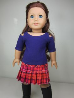 American Girl doll clothes 2pc. Dark purple  open by JazzyDollDuds, $18.00