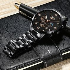 New Mens Watch Auto Date Chronograph Sports Watches For Men Waterproof Business #SANDA #Sport