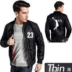 Mens Fashion flying Jacket Thin&Thicken  james NO 23 Innovation pattern Electric Gaming Spring&Autumn Unisex bomber Jacket #Affiliate