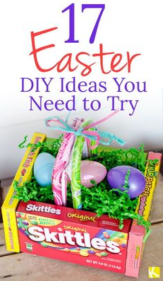 Looking for fun DIY Easter crafts for kids? Look no further! The Krazy Coupon Lady has found all the best Easter DIY crafts for you and for the kids. Wondering what to do with all the Peeps, how to use up plastic Easter eggs, creative easter basket alternatives, what to put in plastic Easter eggs that's not candy, how to make cute DIY Easter decor, or unique ideas for how to decorate or dye Easter eggs? Gotcha right here! Easter Crafts For Kids, Diy For Kids, Easter Ideas, Easter Recipes, Diy Osterschmuck, Fun Diy, Easter Egg Basket, Easter Eggs, Hoppy Easter