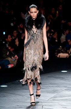 Fur, studs, sequins - and a touch of fire from the Roberto Cavalli AW14 collection http://uk.bazaar.com/1grcUNX