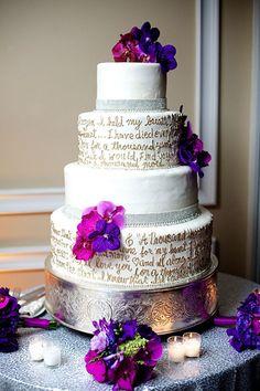 First Dance Lyrics on wedding cake