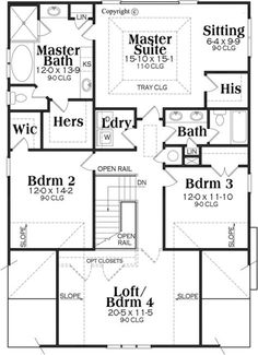 This house is very nice. I'd eliminate the his closet in the master and replace the tub with a big walk in shower in the master bath