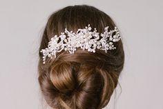 'Karina' wedding hair comb by Bride La Boheme, $210